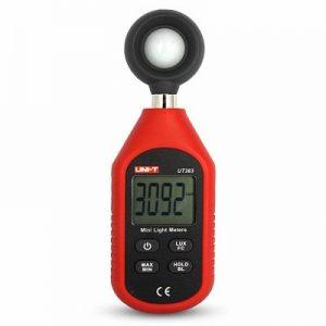 Mini Digital Medidor de luz Luxómetro Iluminómetro con Pantalla LCD, Fotómetro Digital profesional, Medidor Iluminación, luzometro